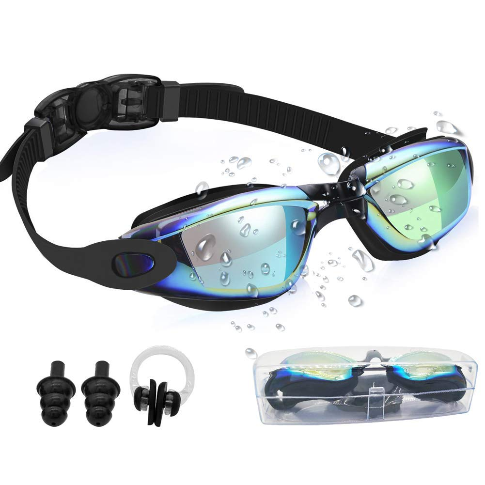 Gaslen Swim Goggles No Leaking Anti Fog UV Protection Triathlon Swim Goggles with Nose Clips