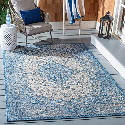 Safavieh Courtyard Collection CY8720-36812 Blue and Grey 8 x 10 Area Rug