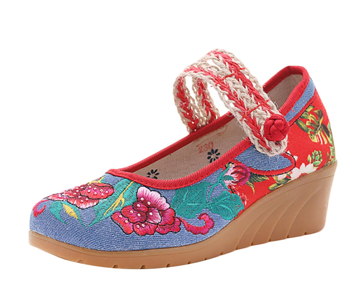 Insun Zapatos Bailarinas con Correa Mary Jane Alpargatas Para Mujer 38 EU|Azul