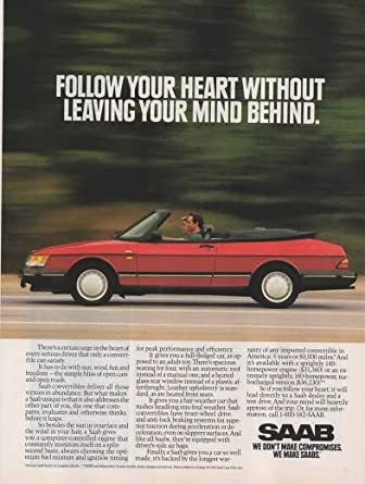 Magazine Print ad: Red 1992 Saab 900 Turbo Convertible,