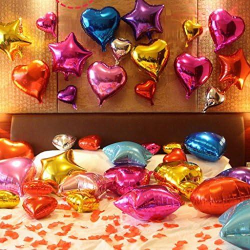 10ピース45センチハート型アルルム箔バルーンウェディングパーティーの装飾8色 - シルバー