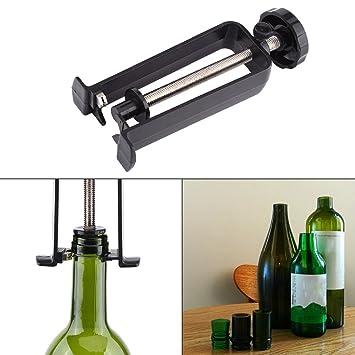 Cortador de Cuello de Botella de Cristal Cortador de Botella de Vidrio para Botella de Vino Cerveza Champagne Herramientas de Corte de Botella de Cristal: ...