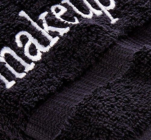 Luxury Black Cloth Turkish Cotton Make up Cleansing (Set of 6) by Chakir Turkish Linens (Image #2)