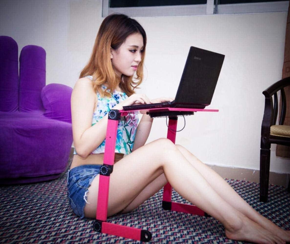 Black WYMF Laptop stand Multifunktionale Folding Laptop Tisch Schreibtisch Bett Sofa Tablett 360 rolle Einstellbar Tragbare Notebook Schreibtisch