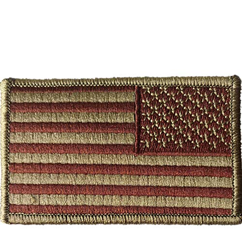 US Air Force Reverse OCP and Spice Brown Flag with Hook Fastener(2 pack) -