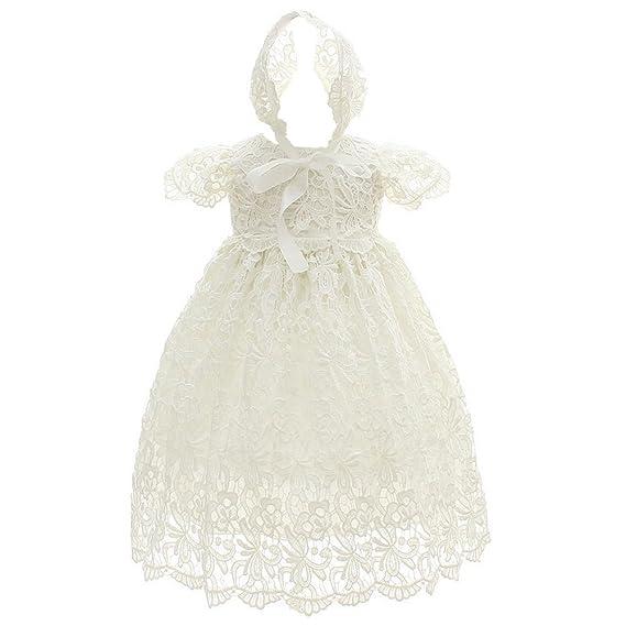 Coozy Vestido De Bautizo Para Niña O Bebé Para Ocasiones Especiales 2 Piezas Para Bautizo Bautizo Vestido Largo Hueco