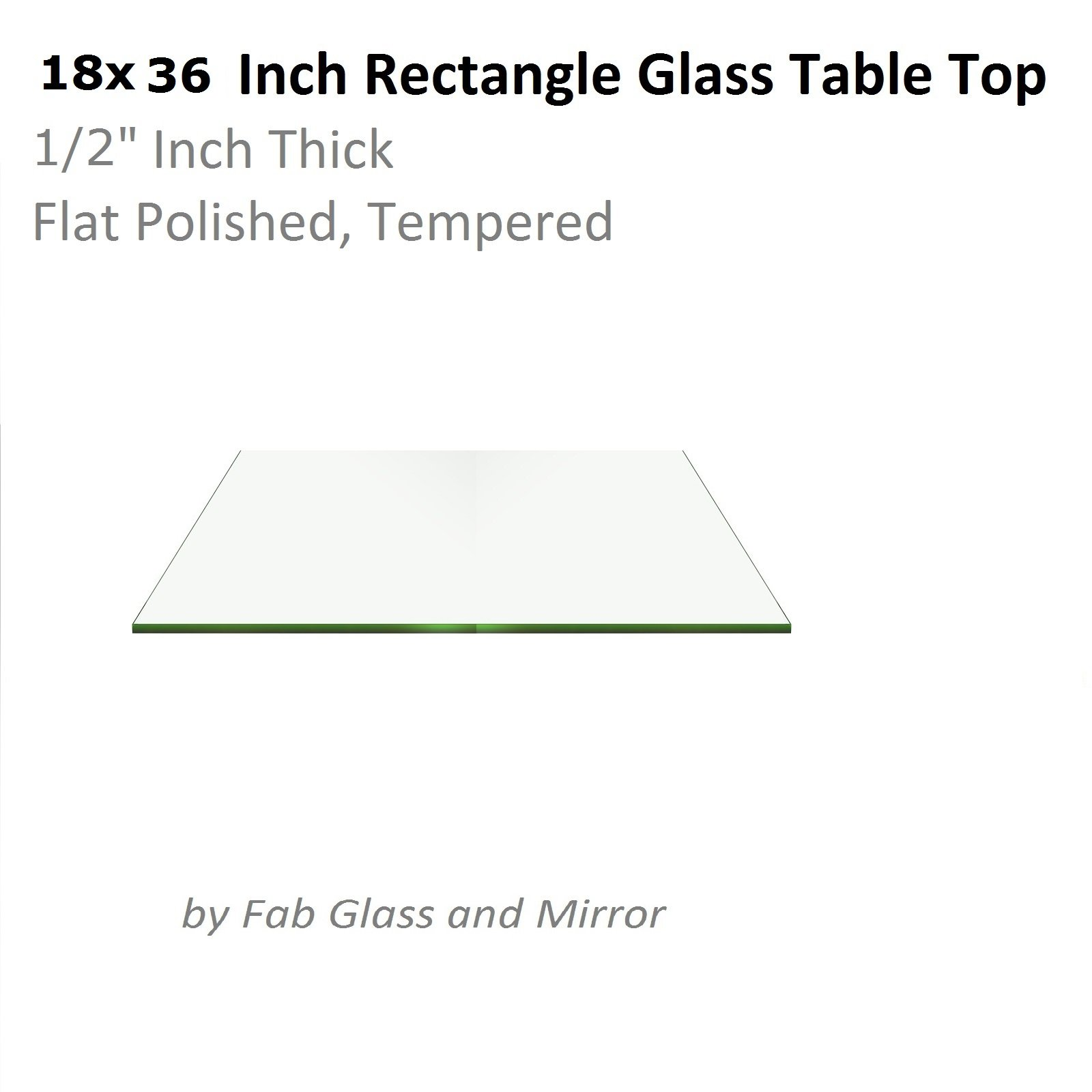 "Fab Glass and Mirror 1/2"" Thick Flat Edge"