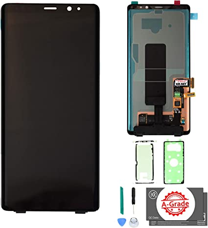 Touch Samsung Amoled N950f Adhesive Screen 8 Replacement Note For Lcd N950u Kr-net Tools N950w With Frame without And Display Digitizer Galaxy