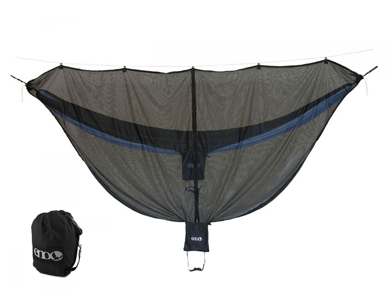 Eagles Nest ENO DoubleNest OneLink Combo - Royal/Charcoal Hammock+Black Profly