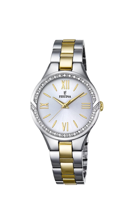 Festina Damen-Armbanduhr Analog Quarz Edelstahl F16918-1