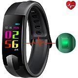 Fitness Tracker, CHEREEKI Pulsera Actividad Pantalla Color Pulsera Inteligente con Cardíaco Monitor Reloj Inteligente can Monitor de Sueño/ Compatible con iOS y Android/ Llamada Entrante/ Mensajes SNS