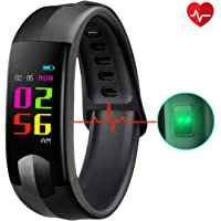 CHEREEKI Fitness Tracker, Colour Screen Fitness Trackers with Heart Rate Monitor Waterproof Activity Tracker Smart Watch Smartwatch with Sleep Monitor Messages Storage Messages for Kids Women Men
