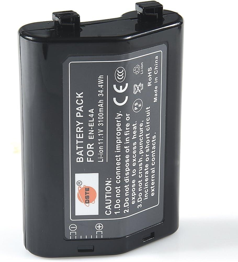 DSTE 2-Pieza Repuesto Bater/ía Compatible para Nikon EN-EL4 EN-EL4A D-SLR D3x D3 D2Xs D2X D2Hs D2H