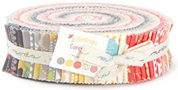 Amazon.com: Moda SUNDROPS Honey Bun 1.5  Precut Cotton Fabric ... : honey bun quilting strips - Adamdwight.com