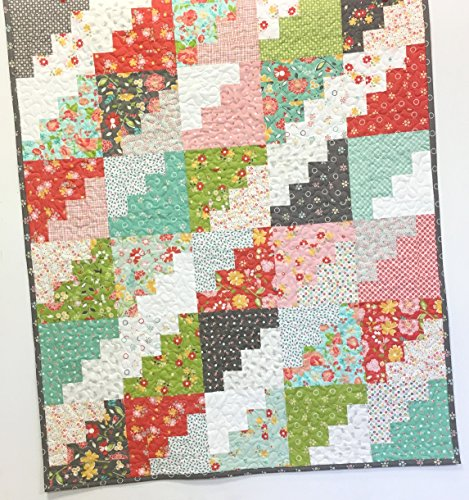 Modern Baby Girl Crib Quilt Handmade Nursery Bedding by Carlene Westberg Designs