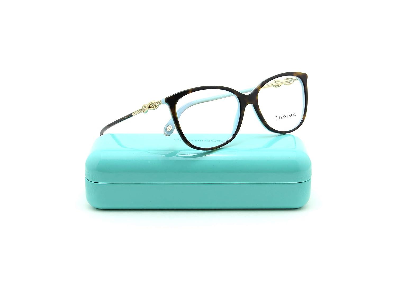 c1b141004a3 Amazon.com  Tiffany   Co. TF 2143-B Women Oval Eyeglasses RX - able  Prescription Frame (Black Blue 8055