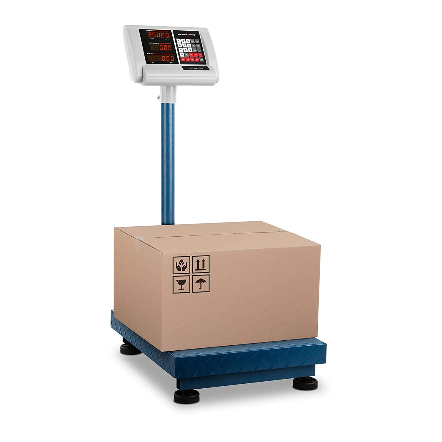 300 kg // 50 g, 40 x 50 cm, 10 hours battery, Folding display, Adjustable background lighting Steinberg Systems Platform Scale Parcel Industrial SBS-PF-300//50C