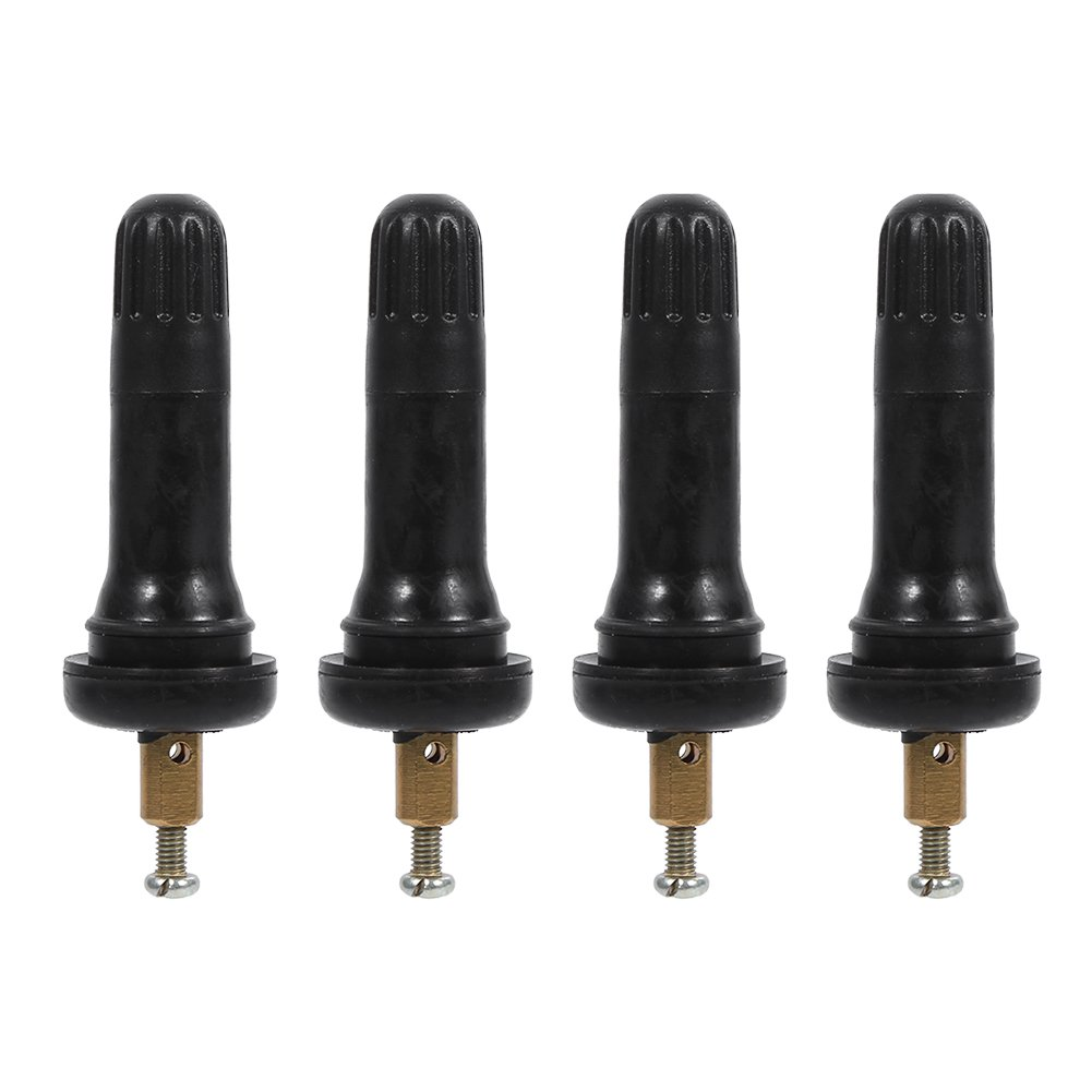 4 Pcs TPMS Tire Pressure Monitoring System Sensor Explosion -proof Snap In Tire Valve Stems VGEBY