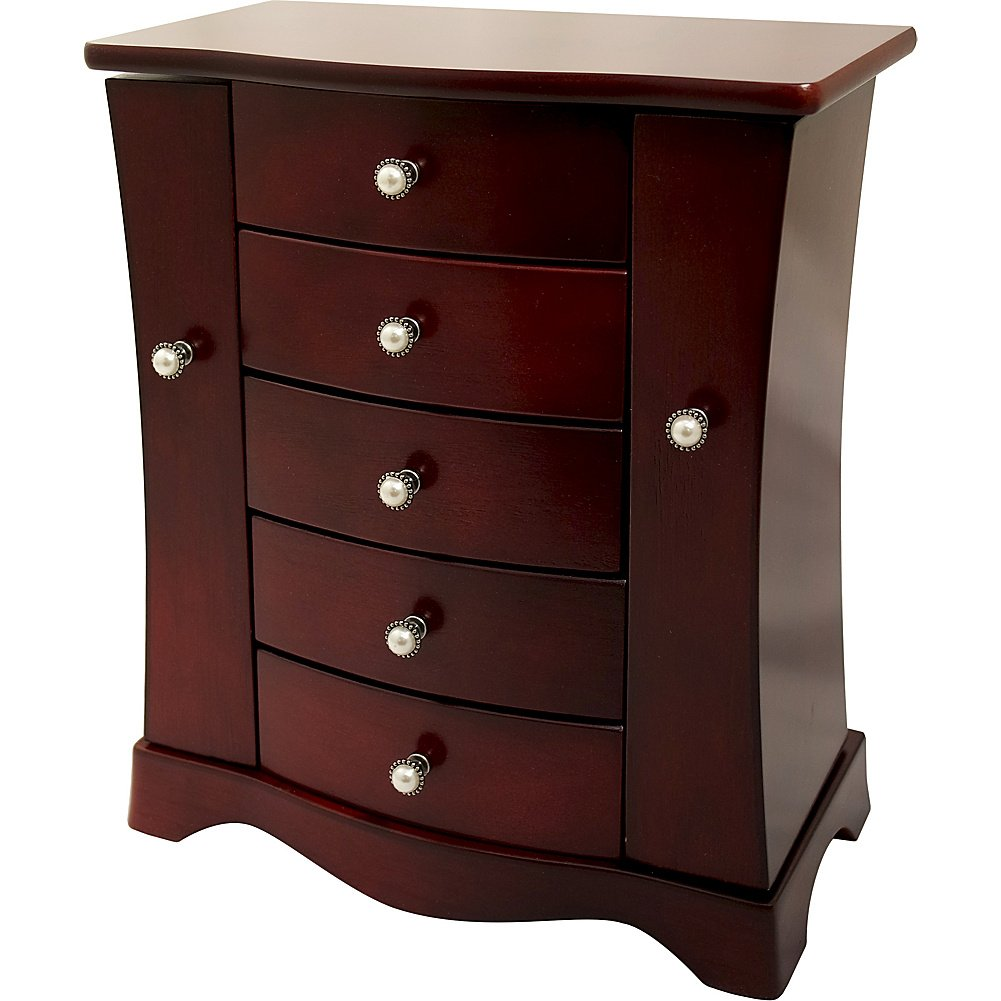 Mele And Company - Mele & Co. Bette Cherry Finish Jewelry Chest 0074311