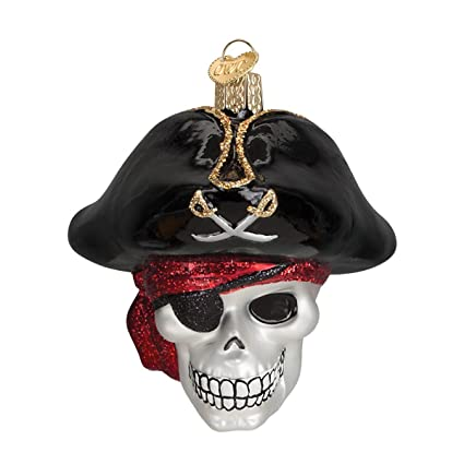 Amazon.com: Old World Christmas Ornaments: Jolly Roger Glass Blown ...