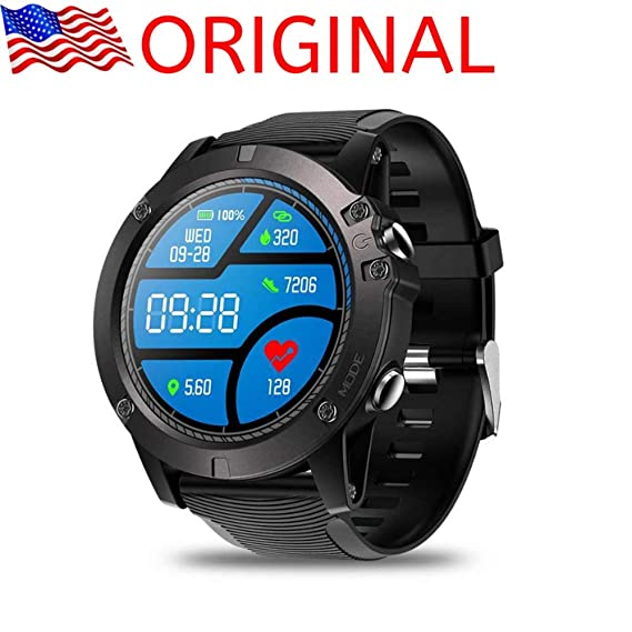 Smartwatch Tactical V5 Touch Screen Smart Watch Men Heart Rate Tracking Sports (Black) (Black)