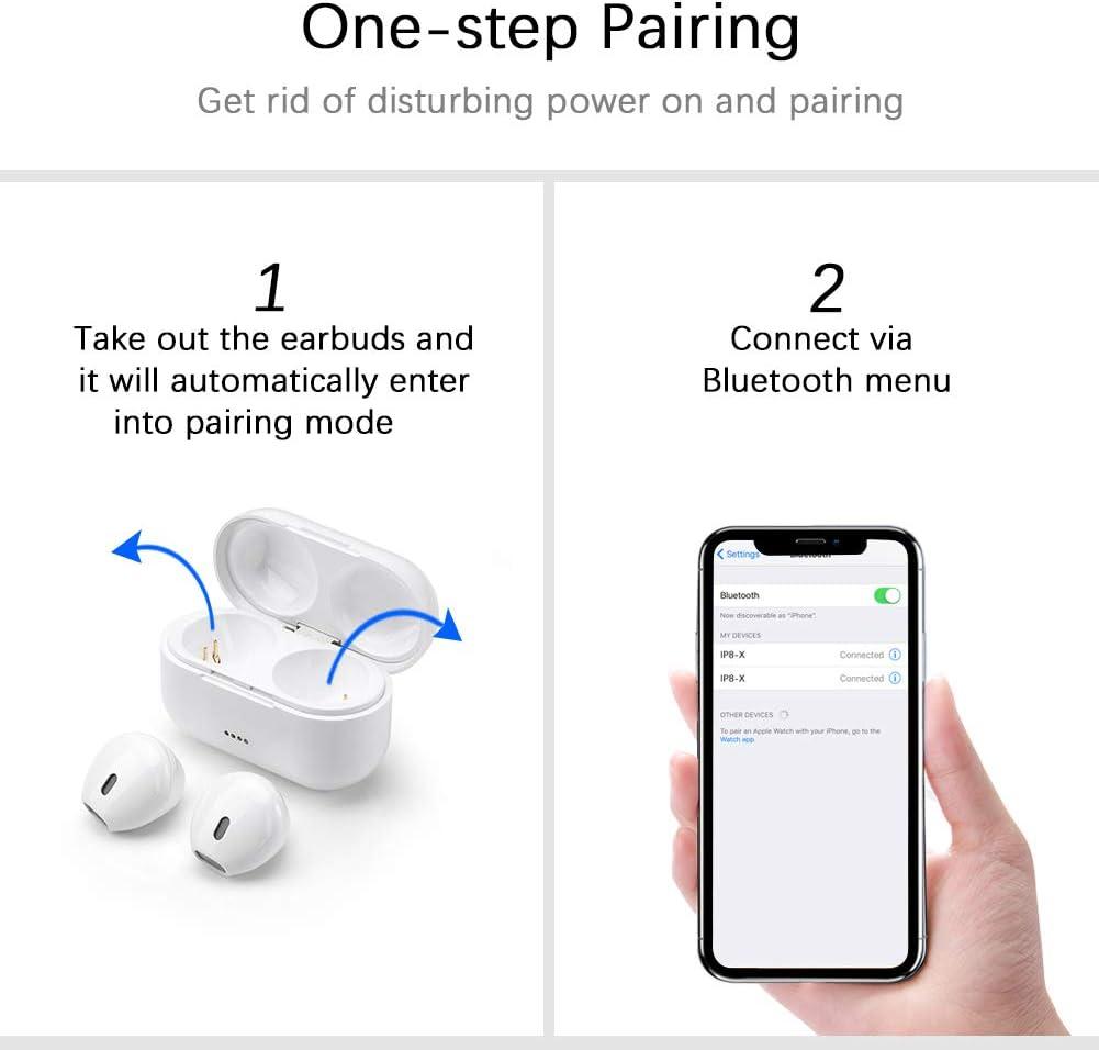 Auriculares Bluetooth, Fantime Auriculares Inalámbricos Bluetooth ...