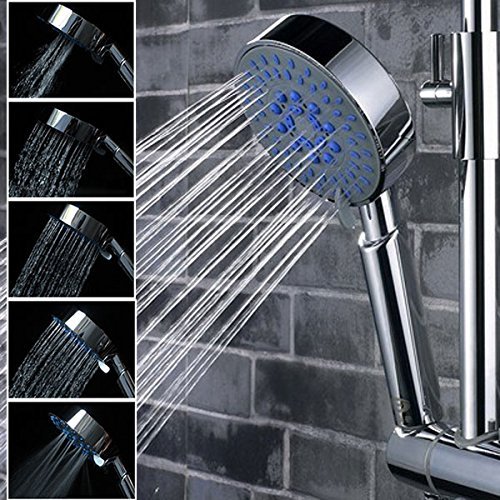 Bryant Split System (Showerhead & Accessiories - 5 Mode Multi Function Chrome Adjtable Water Shower Head - Soft Water Shower Head Hard Hot Saving High Pressure American Standard Heads Bathroom Rainfall - Low - 1PCs)