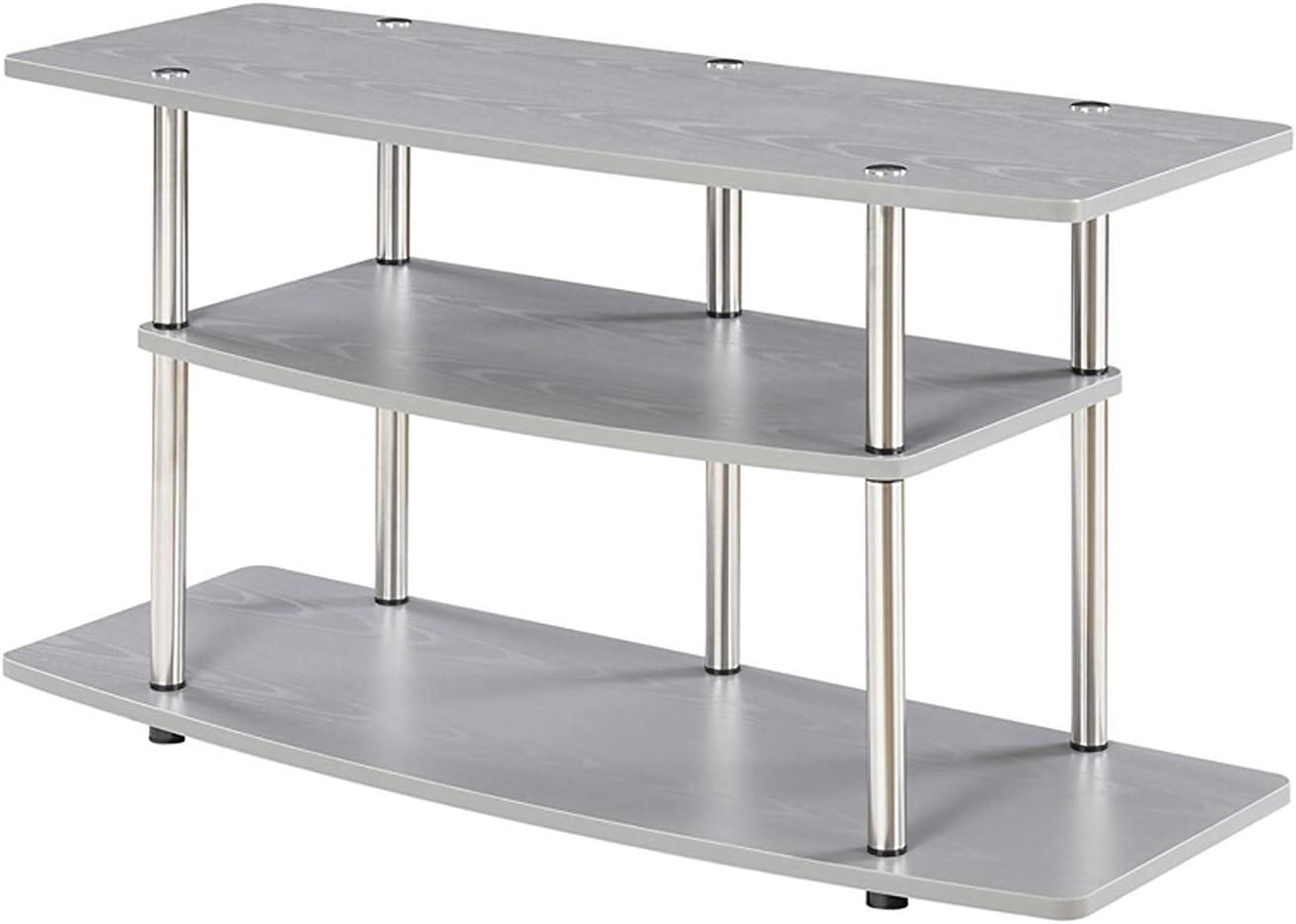 Convenience Concepts Designs2Go 3-Tier Wide TV Stand, Gray