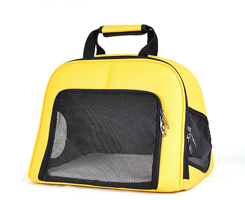 Pet Breathable Tote Grid Breathable Collapsible Portable Pet Travel Tote For Cats And Dogs Up To 9.5Kg