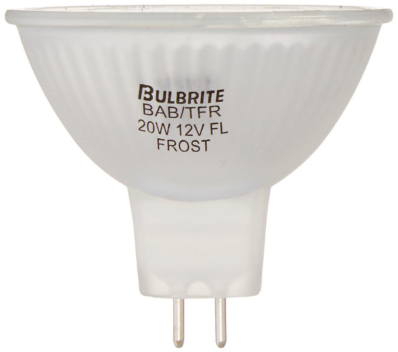 Bulbrite BAB TFR 20 Watt 12 Volt Halogen MR16 Total Frost Bi Pin Flood