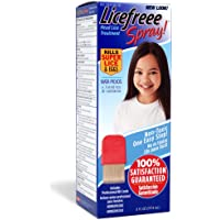 Licefreee Head Lice Spray - New Version - Super Lice Treatment for Kids and Adults - Kills Lice, Super Lice and Eggs on Contact - Includes Professional Metal Nit and Lice Comb - 6 Oz