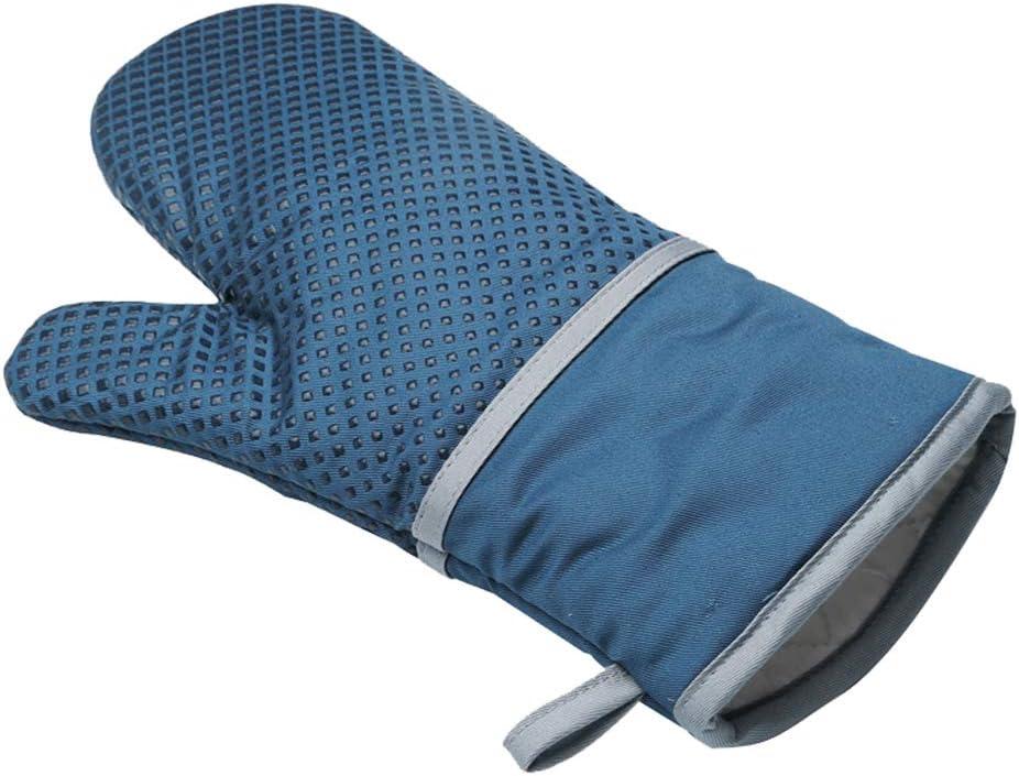Panegy Ofenhandschuhe Hitzebest/ändig Topflappen Handschuhe Anti-Rutsch Silikon BBQ Backofen Grillhandschuhe