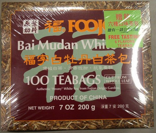 Foojoy Bai Mudan White Tea, 7 Oz, 100 Teabags by FooJoy