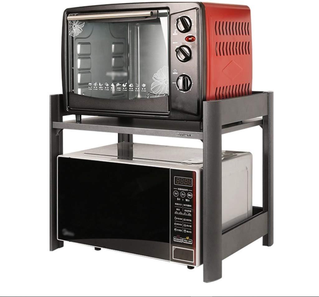 WZF ripiano da Cucina Forno a microonde Ripiano in Piedi Controsoffitto 2 Pneumatici Lega di Alluminio Grigio 58 cm 42 cm 45 cm