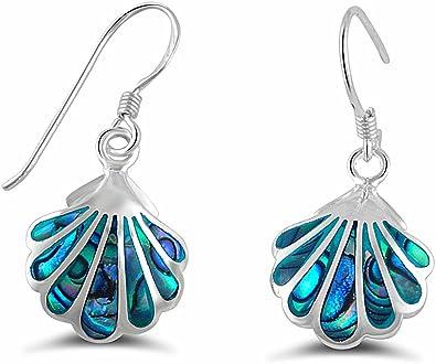 Brightt Abalone Leaf .925 Sterling Silver Earrings