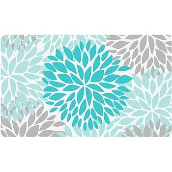 Amazon.com: Doormat Turquoise Mandala Floral Printed