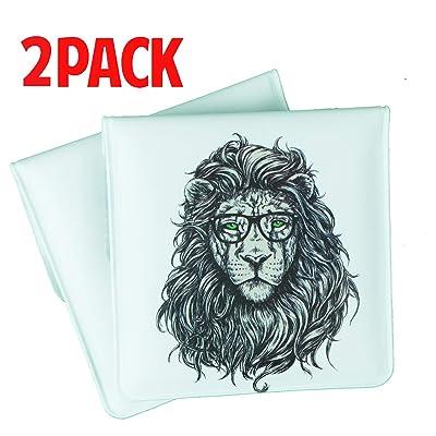 MERFUNTO Portable Ashtray Pouch Fireproof PVC Mini Ashtray Pocket Ashtray for Outdoor Travel Use Lion: Home & Kitchen