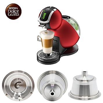 Nescafe Dolce Gusto cápsulas reutilizables de acero inoxidable Dolce Gusto cápsulas de café para Dolce Gusto cápsulas de café recarga para años ahorro de ...