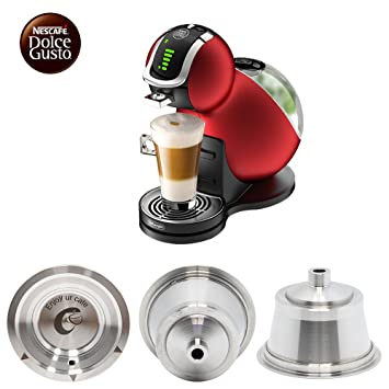 Nescafe Dolce Gusto cápsulas reutilizables de acero inoxidable Dolce Gusto cápsulas de café para Dolce Gusto