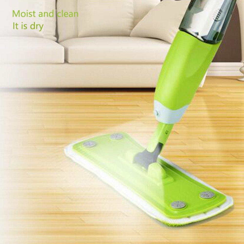 Flat Mop Acqua a Spruzzo Spray//lavaggio a mano gratuito grande famiglia Parquet Centrifuga Trascinare un uomo pigro/ /Due Testa di rimorchio Mop-01