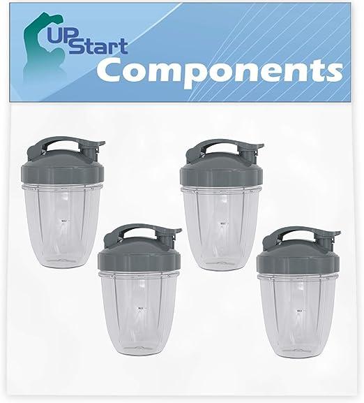 4 unidades de repuesto de componentes Upstart de 18 onzas con tapa ...