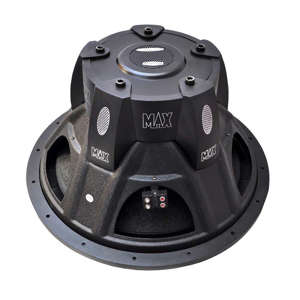 Lanzar 12in Car Subwoofer Speaker Black Non Pressed Spwakers 4 Ohm Wiring Diagram Door Paper Cone Stamped Steel Basket Dual Impedance 1600 Watt Power And Foam Edge