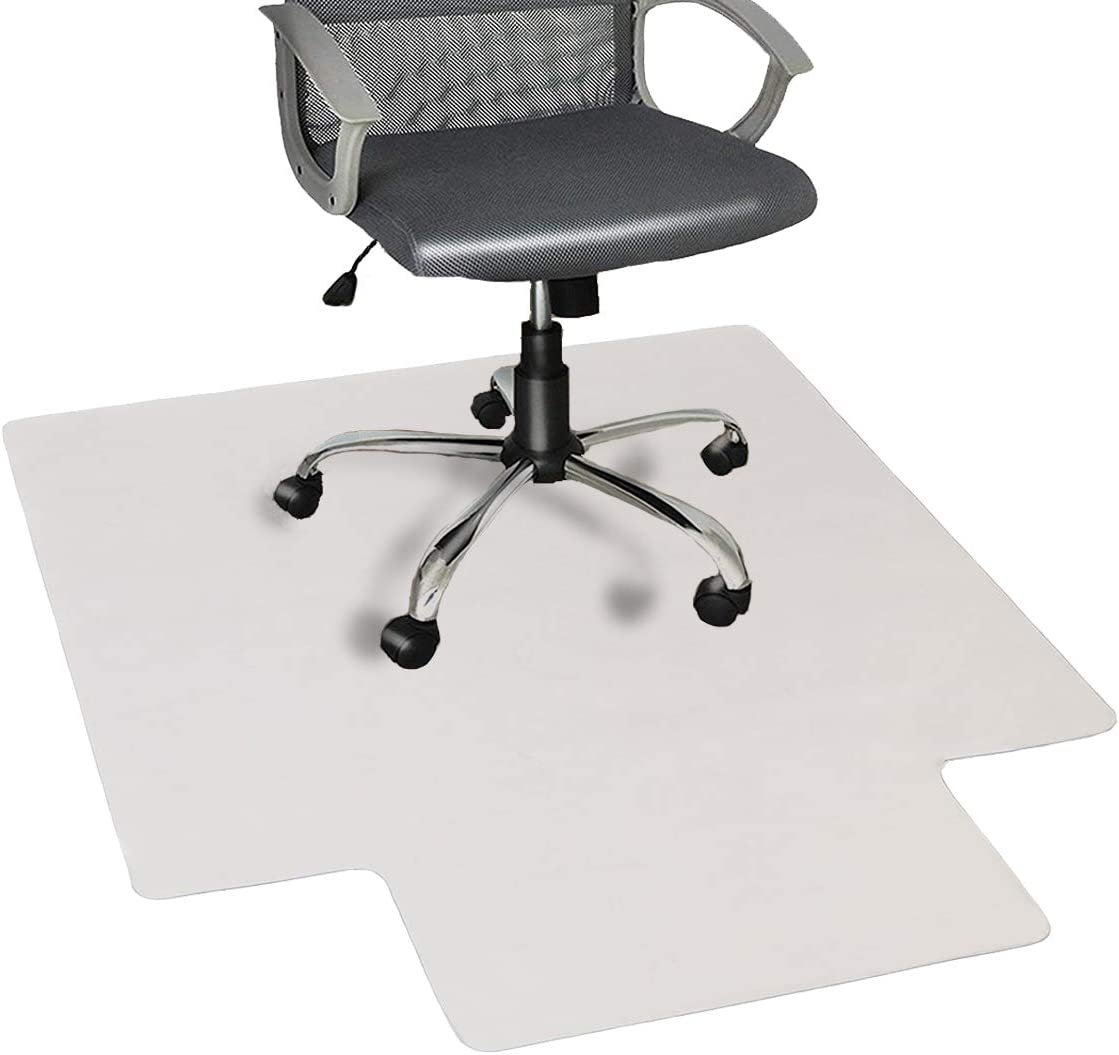 "Nontoxic Office Chair Mat for Hard Floor 36"" x 48"" BPA Free Transparent Hardwood Floor Protector Easy Glide for Chairs Flat Without Curling Sturdy Durable Good for Computer Desk Office & Home"