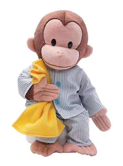 5395a6fdc3b7 Amazon.com: GUND Curious George Pajamas Monkey Stuffed Animal Plush ...