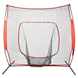 Cocohot Baseball/ Softball Practice Net Practice Batting, Pitching, Catching, Backstop Screen Equipment Training Tool