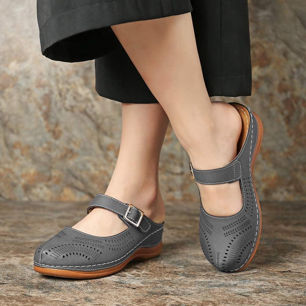 gracosy Damen Clogs Weiche Beil/äufig Pantoletten Atmungsaktiv Bequeme Walking Schuhe Flach Sommer Beach Sandalen Slip on Hausschuhe