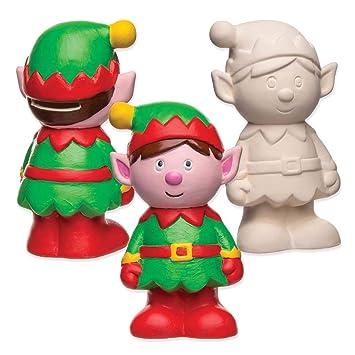 Manualidades Duendes De Navidad.Baker Ross Huchas De Ceramica En Forma De Duende De Navidad