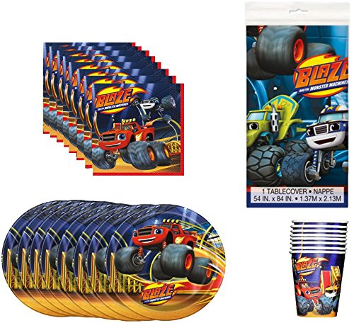 Blaze and the Monster Machines Birthday Party Supplies Bundle Pack for 8