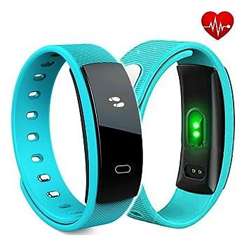 TKSTAR Fitness Tracker Pulsómetro, Smart Watch brazalete deportivo OLED pantalla táctil Smart Reloj de pulsera