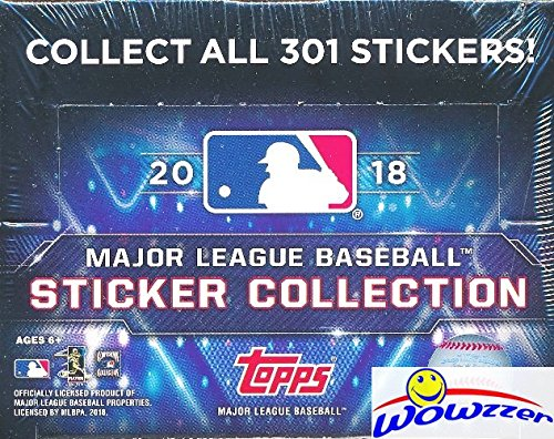 2018 Topps MLB Baseball Stickers MASSIVE Factory Sealed 50 Pack Box with 400 MINT Brand New Stickers! Look for Stickers of Mike Trout, Aaron Judge, Kris Bryant, Bryce Harper & (Topps Baseball Sticker)